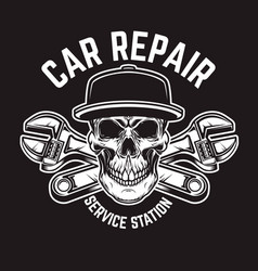 Car repair service station emblem template with vector