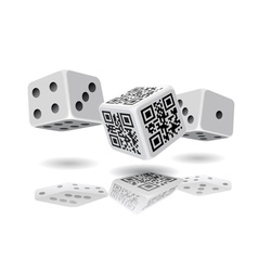 Casino cubes and QR code cube vector image