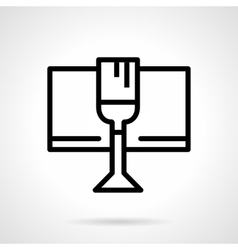 Celebratory drink black simple line icon vector image