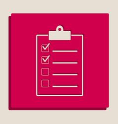 Checklist sign grayscale vector