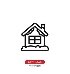 christmas house icon vector image