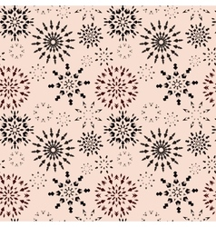Christmas seamless pattern Brown snowflake signs vector image
