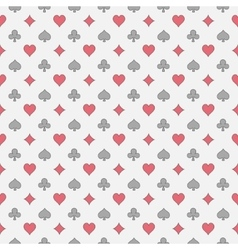 Colorful card suits pattern vector image
