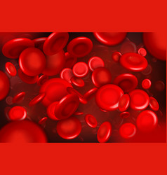 Creative of red blood cells vector