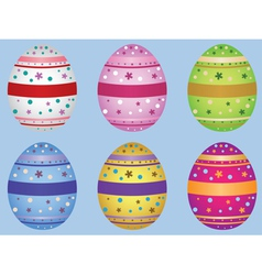 Decorative easter eggs vector