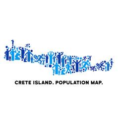 Demographics crete island map vector