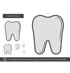 Dentistry line icon vector