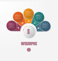elements infographics conceptual cyclic processes vector image