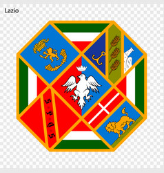 Emblem province of italy vector