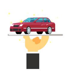 express rent car service conceptual icon vector image
