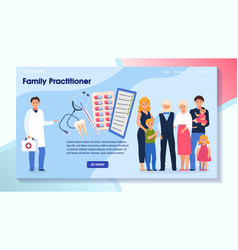 Family practitioner characters doctor male vector