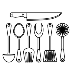 Figure kitchen tools icon image vector