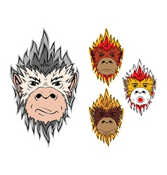 Fire monkey 2016 vector image