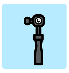 flat color action camera icon vector image
