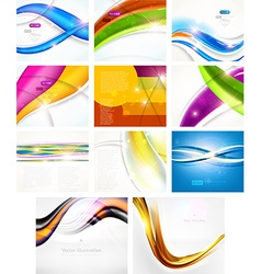 Futuristic Background Set vector