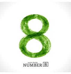 Grunge Number 8 vector image