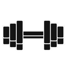 gym dumbell icon simple style vector image
