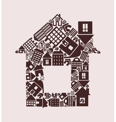 House made of houses vector