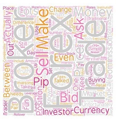 How Do Forex Brokers Make Money text background vector image