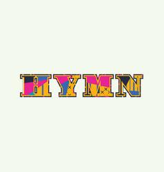 Hymn concept word art vector