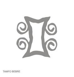 Icon with adinkra symbol tamfo bebre vector