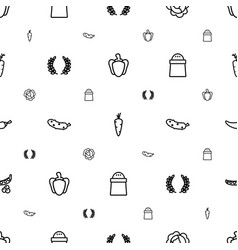 ingredient icons pattern seamless white background vector image