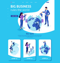 isometric big boss chooses small people vector image