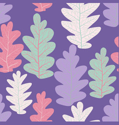 Leaves nature seamless pattern vector