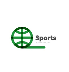 Line minimal design logo ball sports vector