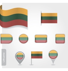 Lithuanian flag icon vector