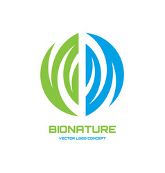 logo template abstract nature vector image