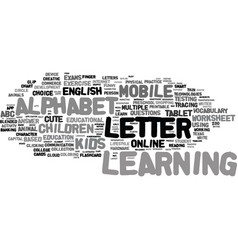 M-learning word cloud concept vector