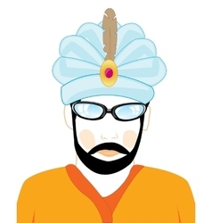 Man in hat of the hindu vector