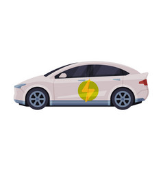 modern electric car eco transport concept flat vector image