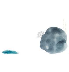 natural landscape background watercolor texture vector image