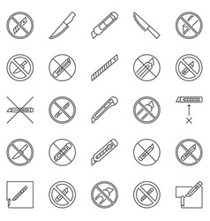 No knife outline restriction icons do not use vector