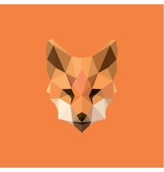 Orange Fox head Polygon Design style f modern logo vector