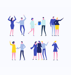 Party - flat design style set of isolated vector