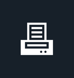 printer icon simple vector image