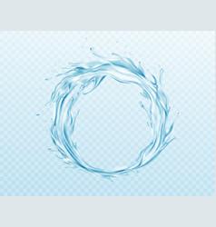 realistic water splash isolated on vector image