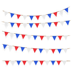 red blue white flag decorated on white background vector image