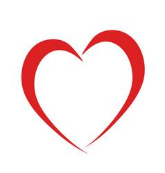 Red heart like love symbol on white stock vector