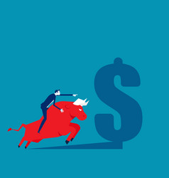 Riding on back an bull business stock vector