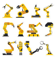 robot manipulator or mechanical arm vector image