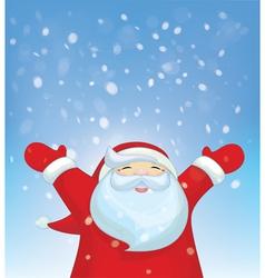 santa snowfall vector image vector image