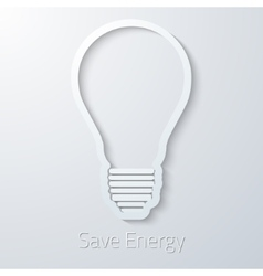Save Energy Paper Light Bulb flat icon vector image