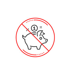 saving money line icon piggy bank sign vector image
