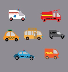 set car style flat vector image