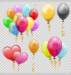 set helium balloons vector image