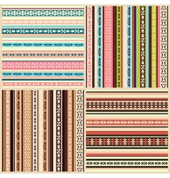 set of color seamless backgrounds with ornaments vector image